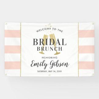 BrautBrunch-Fahne | erröten Champagne-Toast Banner