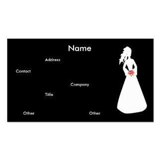 Brautgeschäfts-Karte der Silhouette-II