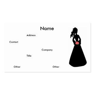 Brautgeschäfts-Karte der Silhouette-III