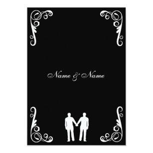 Schön Bräutigam Und Bräutigam Homosexuelle Hochzeit Einladung