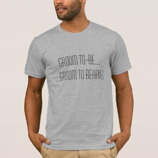 Bräutigam zu-ist ...... der Bräutigam, zum sich zu T-Shirt