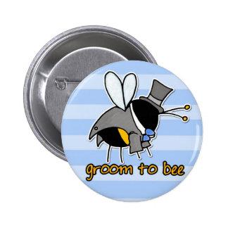 Bräutigam zur Biene Runder Button 5,7 Cm
