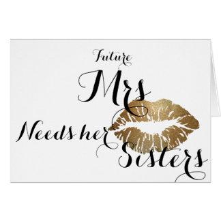 Brautjungfer fragen Karte - Goldkuß