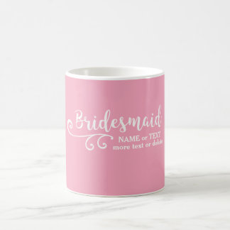 Brautjungfern-Gastgeschenk Hochzeits-Namen-oder Tasse