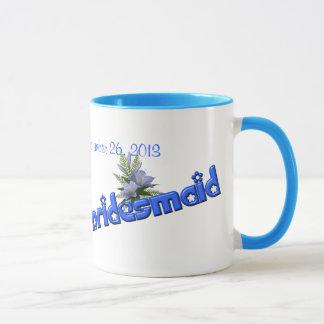 Brautjungfern-personalisierte Tasse