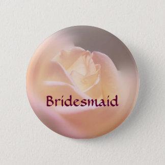 Brautjungfern-Rosen-Blumen-Hochzeits-Knopf Runder Button 5,7 Cm