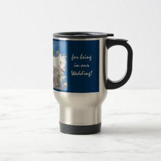 Brautjungfern-Tassen danken Ihnen seiend in Edelstahl Thermotasse