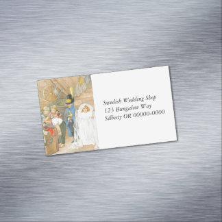 Brautparty Brudföljet Visitenkartenmagnet