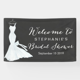 Brautparty der Watercolor-Hochzeits-Kleidertafel-| Banner