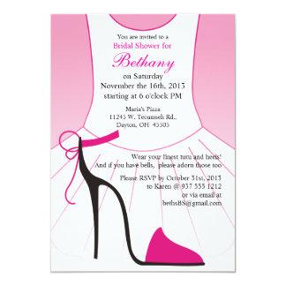 Brautparty-Einladungs-Ballett-hohe Heels-Schuhe Karte