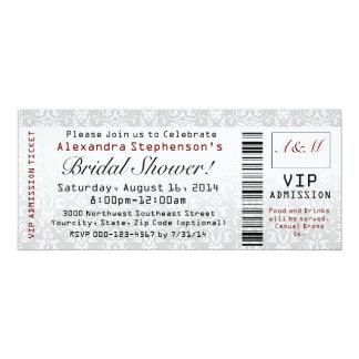 Brautparty-Karten-Einladungen 10,2 X 23,5 Cm Einladungskarte