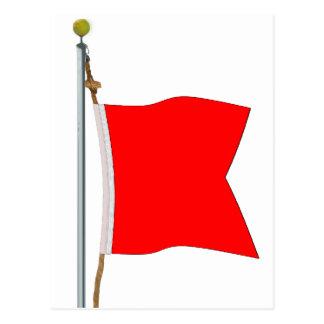 Bravo, das gefährliche Waren-Signal-Flagge trägt Postkarte