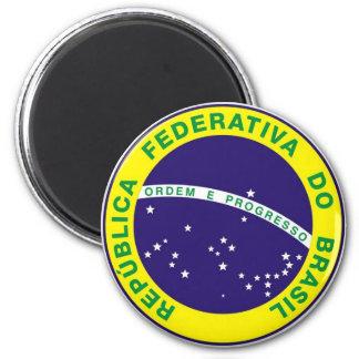 Brazil_ Runder Magnet 5,1 Cm