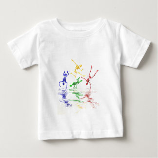 Breakdancing Skelette Baby T-shirt