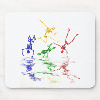 Breakdancing Skelette Mousepads