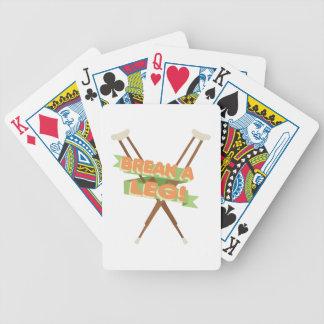 Brechen Sie ein Bein-Krücken Bicycle Spielkarten