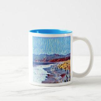 Breezy träumerische Strand-Tasse Zweifarbige Tasse