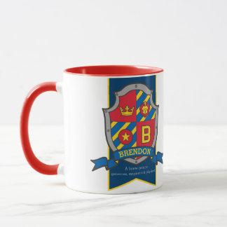 Brendon Ritterschildrote blaue Tasse