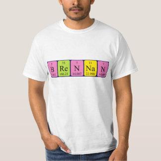 Brennan Namen-Shirt periodischer Tabelle T-Shirt