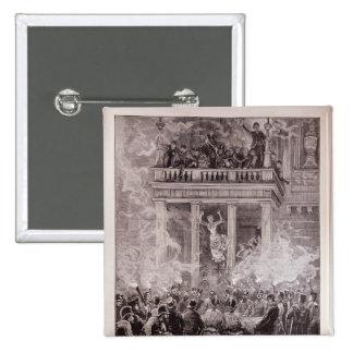 Brennen des Ring-Theaters, Wien Quadratischer Button 5,1 Cm