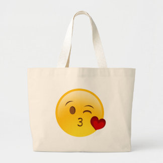 Brennen Sie einen Kuss emoji Aufkleber durch Jumbo Stoffbeutel