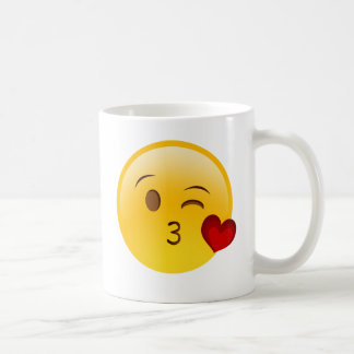 Brennen Sie einen Kuss emoji Aufkleber durch Tasse
