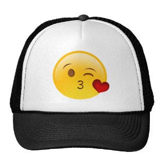 Brennen Sie einen Kuss emoji Aufkleber durch Truckerkappen