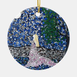 Brennen Sie einen Kuss zum Mond durch Rundes Keramik Ornament