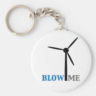 brennen Sie mich Windkraftanlage durch Standard Runder Schlüsselanhänger