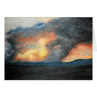 brennende Berge (Aquarell) Karte