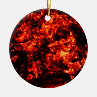 Brennendes Glut-Foto Keramik Ornament