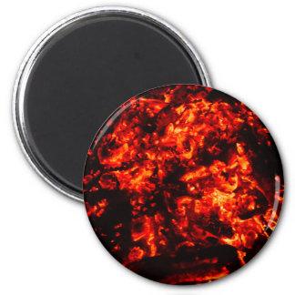 Brennendes Glut-Foto Runder Magnet 5,1 Cm
