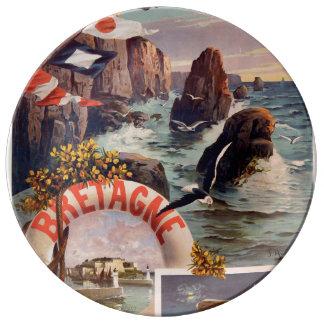 Bretagne - Schönheit Ile en Mer Bretagne Teller Aus Porzellan
