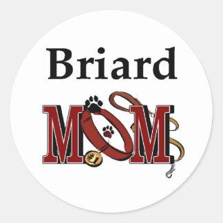 Briard Mamma-Geschenke Runder Aufkleber
