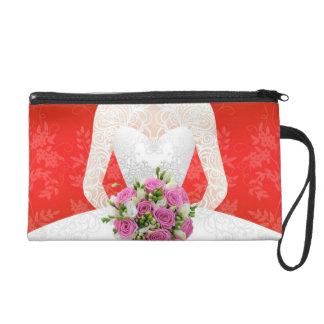 Bridal Netz shower Wristlet Handtasche