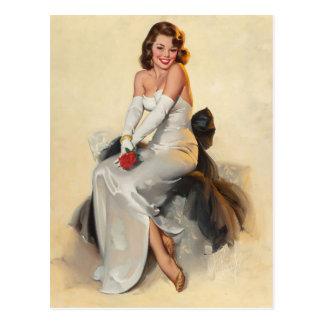 Bridal PinUp Postkarte