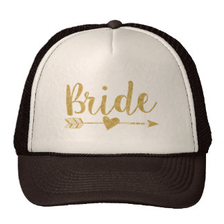 Bride|Bride Tribe|Golden Glitter-Druck Retro Cap
