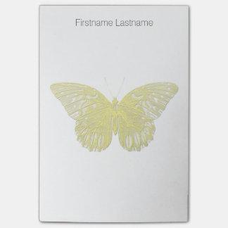 Briefbeschwerer-Art-Schmetterling Post-it Klebezettel