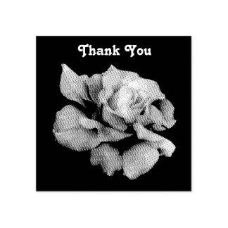 Briefmarke der Rosen-(Holz) - fertigen Sie Gummistempel