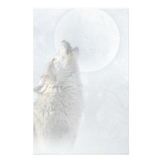 Briefpapier des Wolf-blauen Mondes