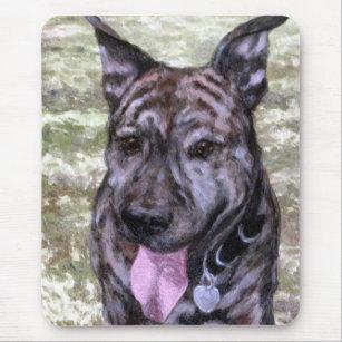 Brindle Amstaff American Staffordshire Terrier Dog Mousepad