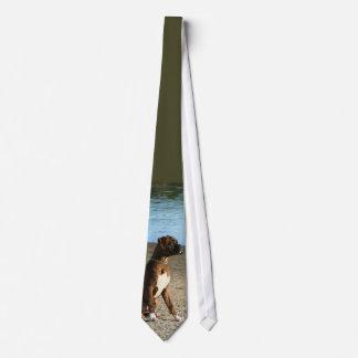 Brindle Boxerwelpen-Krawatte Bedruckte Krawatten
