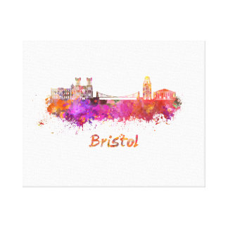 Bristol skyline im Watercolor Leinwanddruck