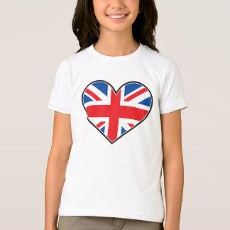 Britische Flagge in einem Herzen T-Shirt