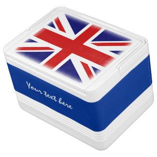 Britische Flagge kann coolerer Kasten mit Igloo Kühlbox