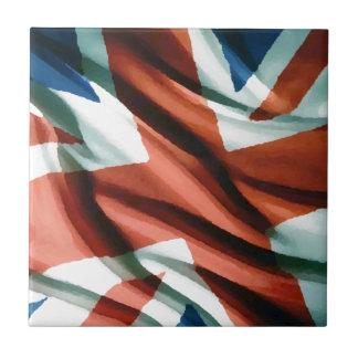 Britische Flaggen-Pop-Kunst Fliese
