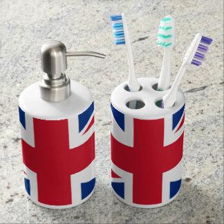 BRITISCHE Gewerkschafts-Jack-Flagge Seifenspender & Zahnbürstenhalter