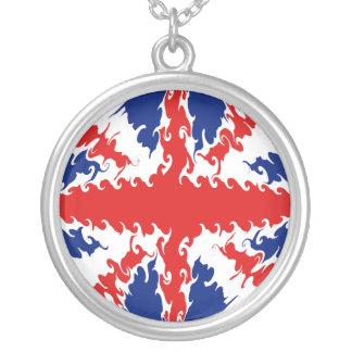 BRITISCHE Gnarly Flagge Halskette Mit Rundem Anhänger