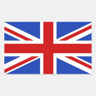 Britische Königreich-Flagge Rechteckiger Aufkleber