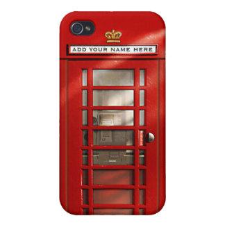 Britische rote Telefonzelle personalisiert iPhone 4/4S Case